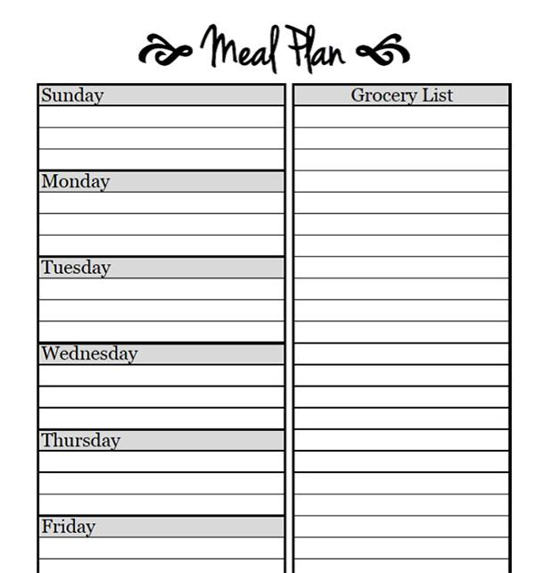 30 Day Meal Plan for Weigh Loss PDF Template Free Download
