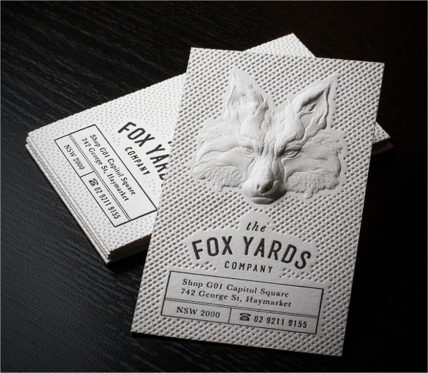 3D Embossed Business Card
