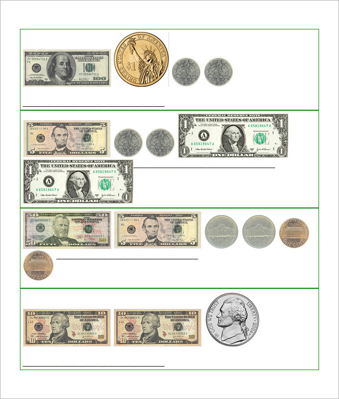 3rd Grade Money Worksheets For Kids Template
