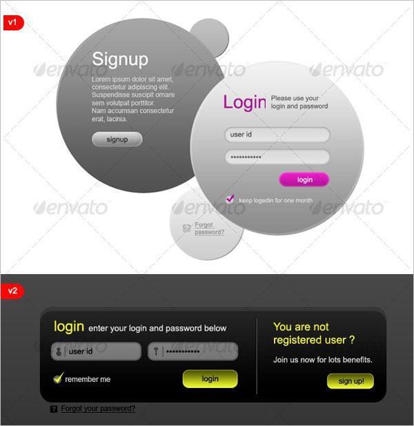 8 Modern HTML Login Signup Panels