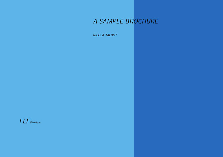 A Sample Brochure