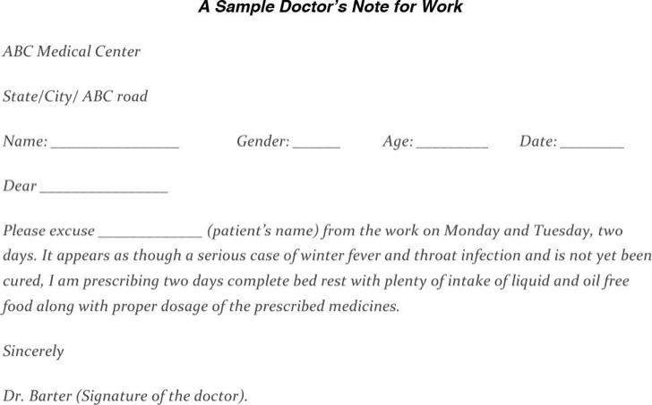 25 Doctors Note Templates Free Download