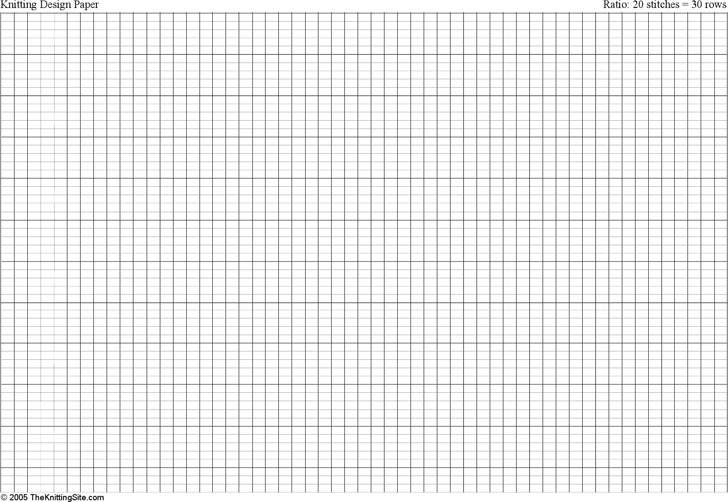 a4 Knitting Graph Paper, Ratio 2:3, Landscape Orientation