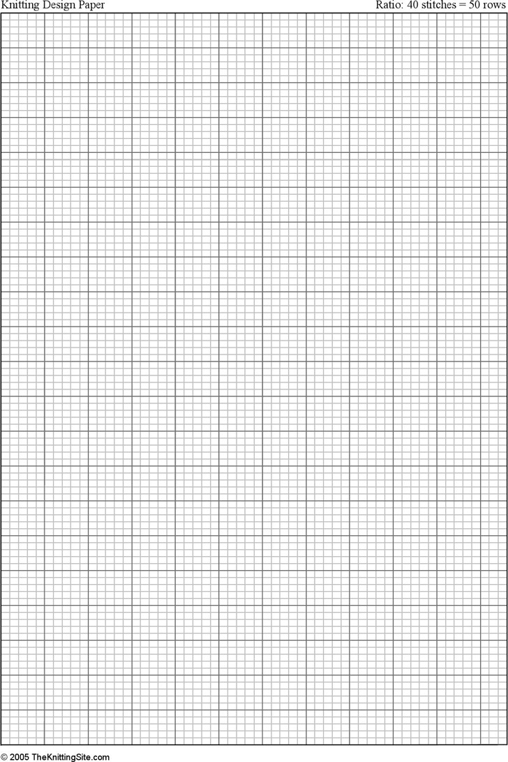 a4 Knitting Graph Paper, Ratio 4:5, Portrait Orientation
