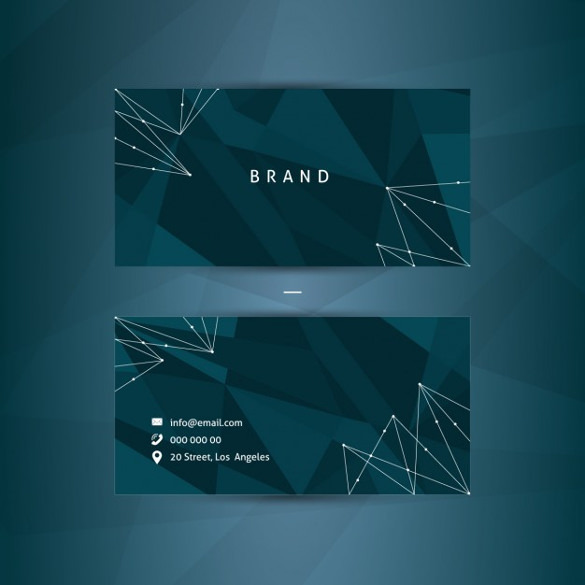 Abstract blue identity card Free Vector Download