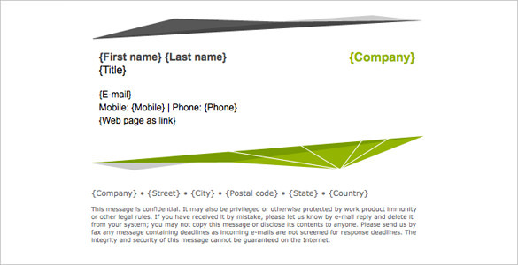 Gmail Signature Template   20 Gmail Signature Templates Free Download