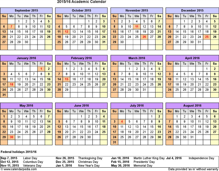 8 Academic Calendar Template Free Download