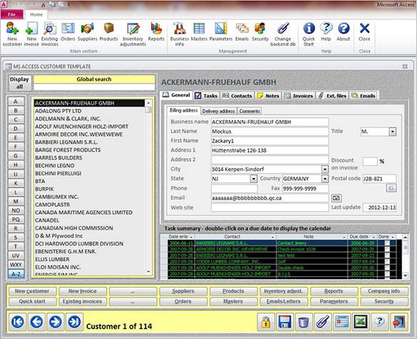 Access 2013 CRM Sample Template