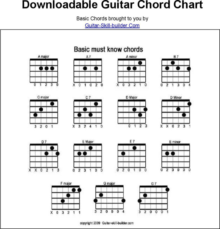 6  acoustic guitar chord charts free download