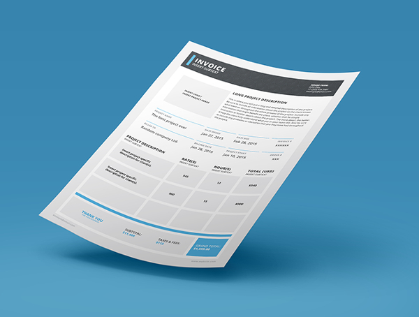 Adobe Invoice Indesign Template