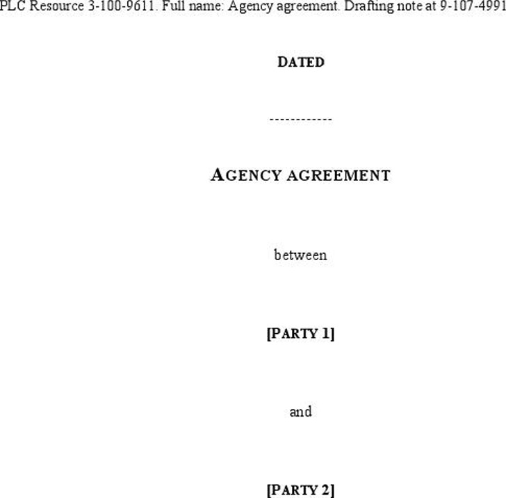 Agency Agreement Sample 5