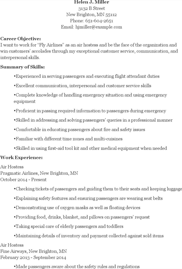 6 Hostess Resume Templates Free Download