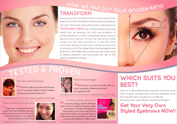 Allure Beauty Saloon Brochure