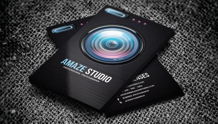 Amaze Studio Photographer Lens Business Card
