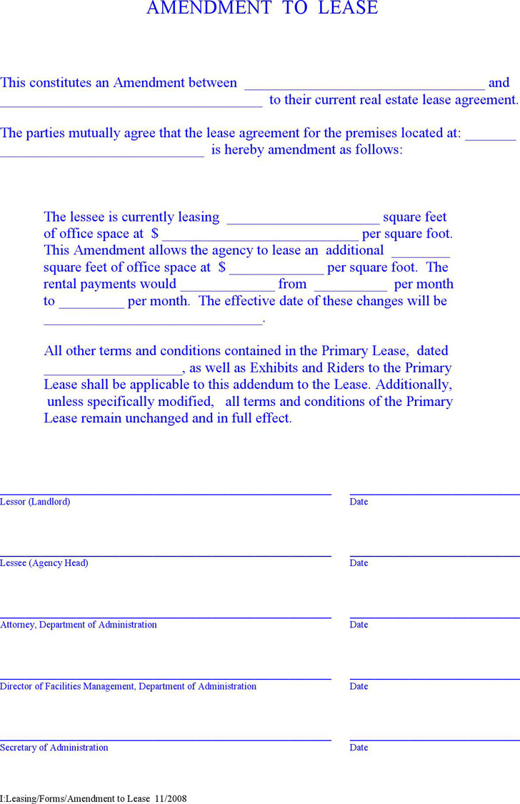 Amendment to Lease