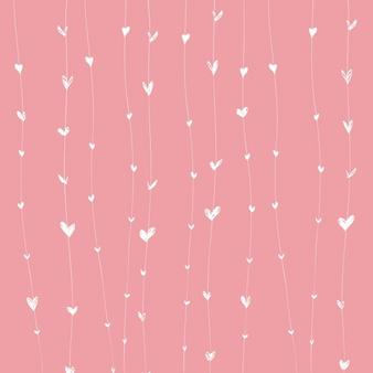 Animal Print Hearts With Sparkle Facebook Background Template