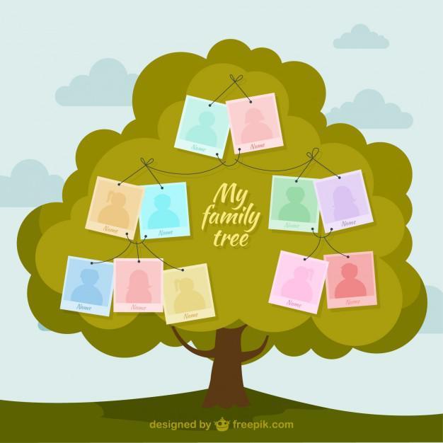 Animated Family Tree Vector Illustration