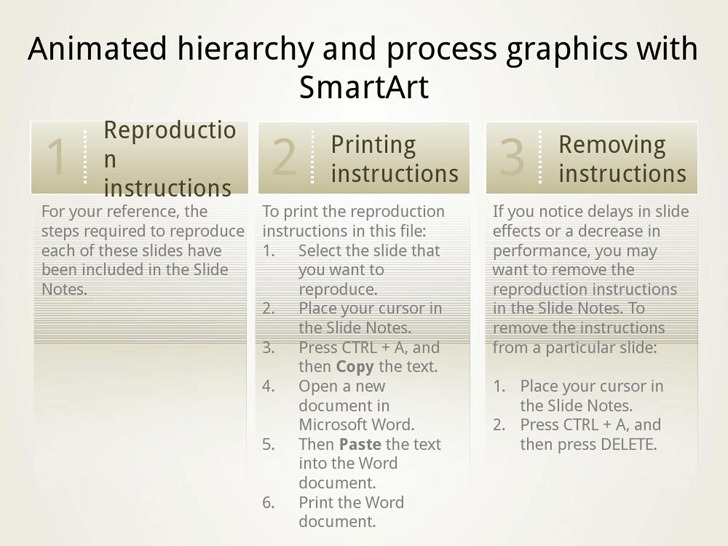 Animated SmartArt Graphics Presentation Slides