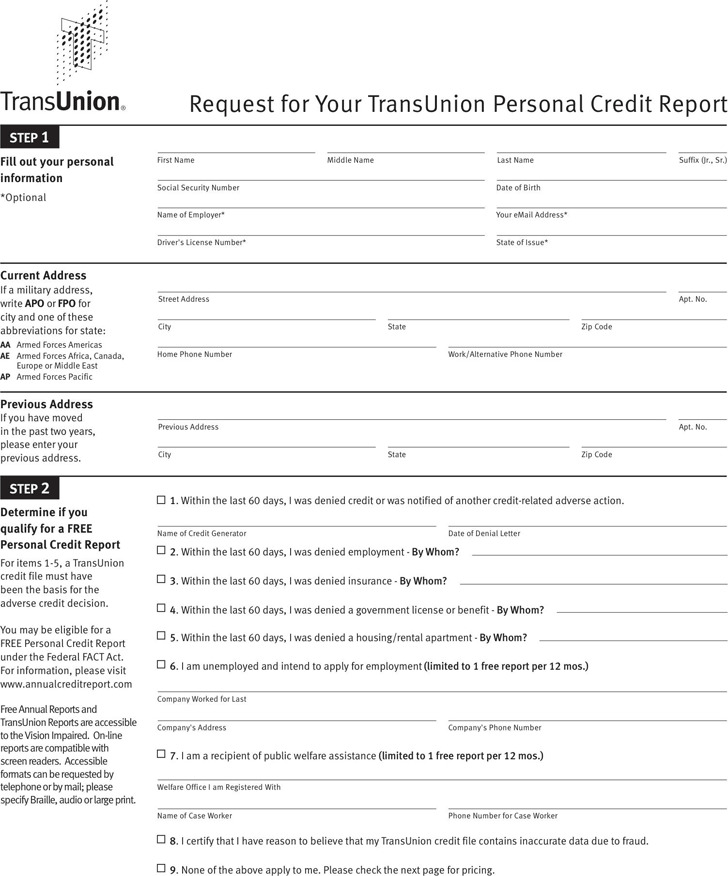 Annual Credit Report Request Template 2