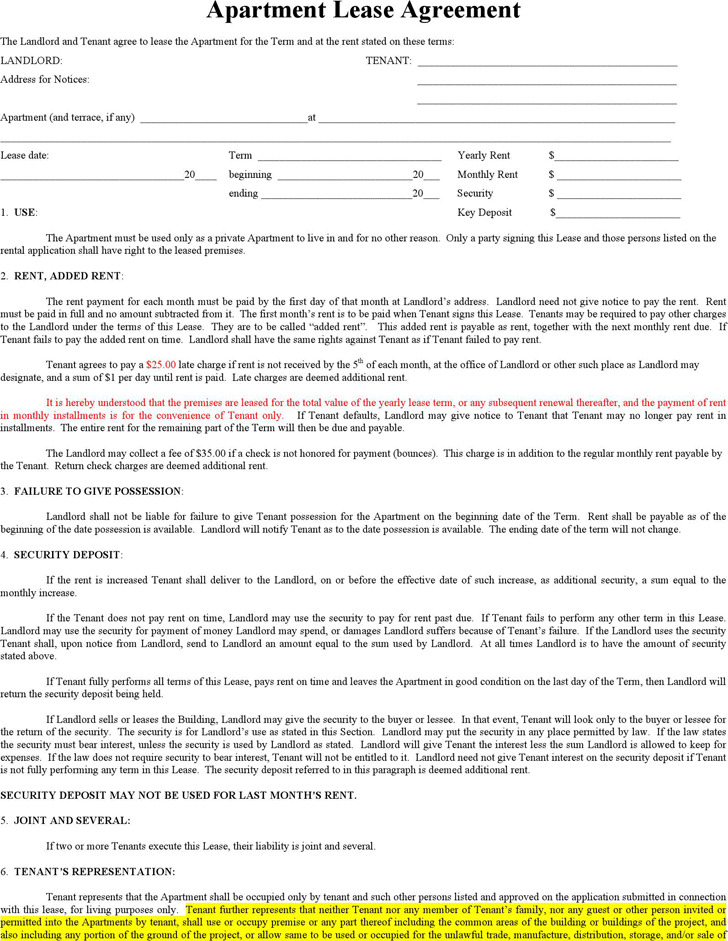 Apartment Lease Agreement 3