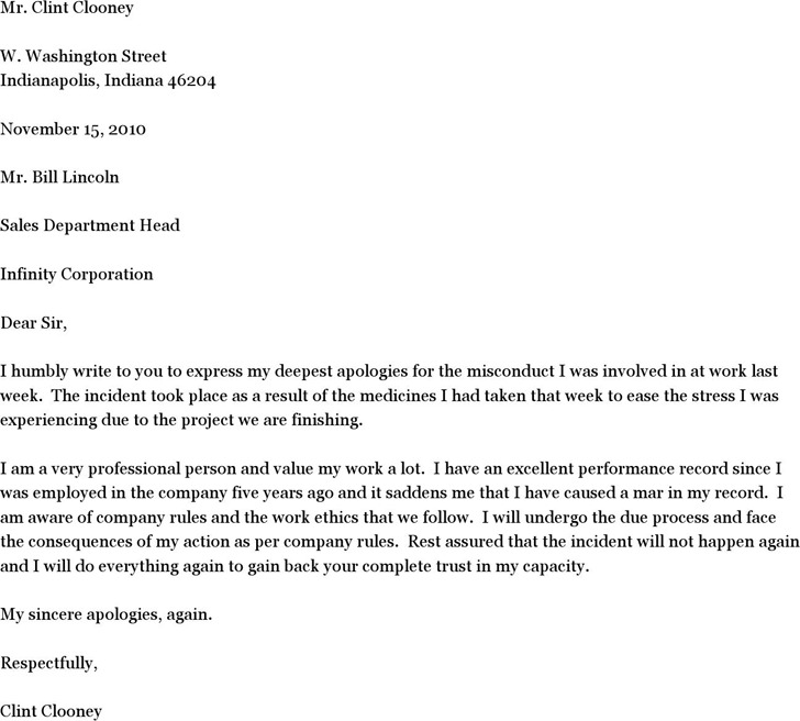 Apology Letter for Misconduct 2