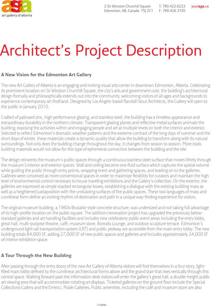 Architecture Project Description Template