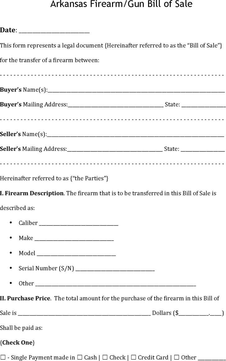 Arkansas Bill Of Sale >> 3 Arkansas Bill Of Sale Form Free Download