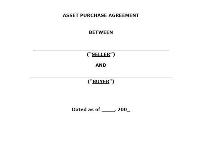 Asset Purchase Agreement 1