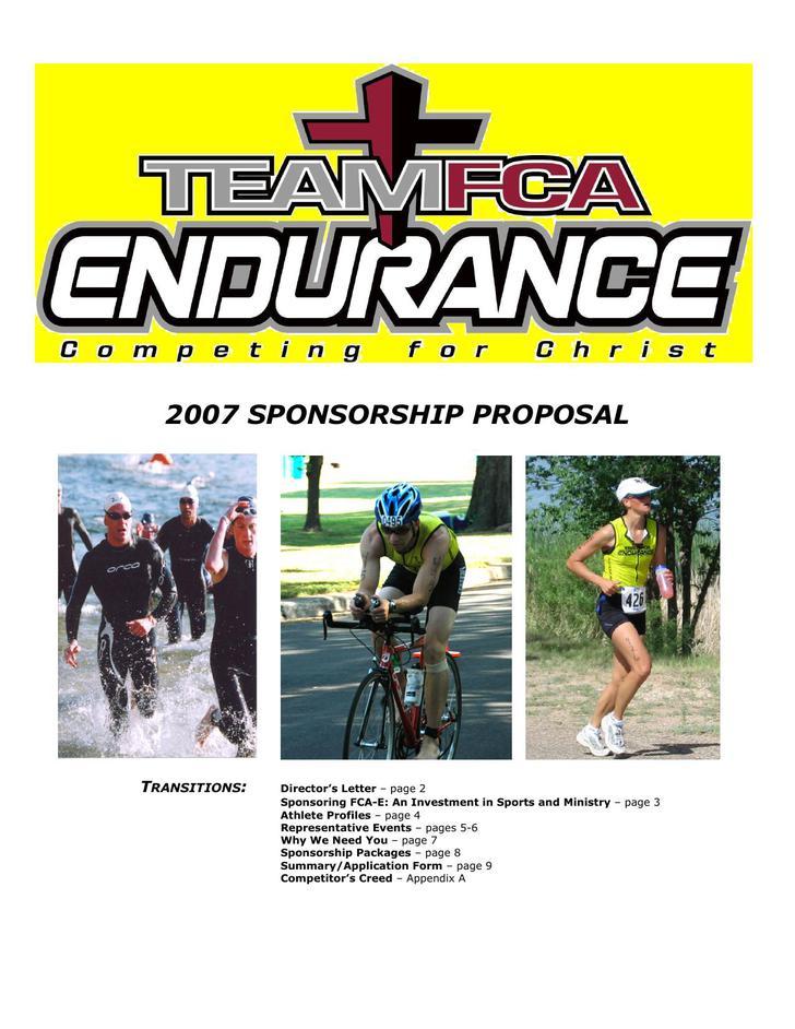 Athlete Sponsorship Proposal PDF Download