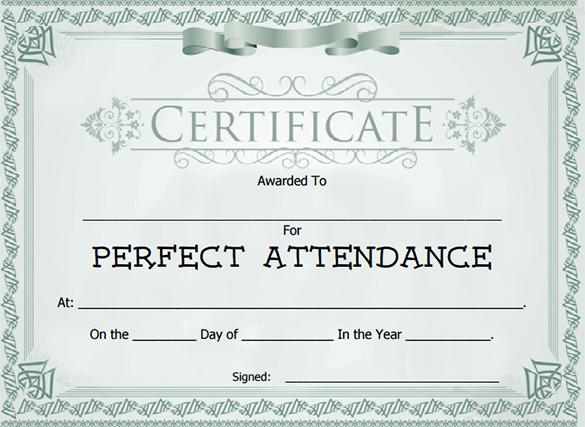Attendance Award Certificate Template Download