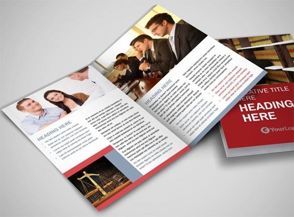 Attorney & Legal Service Bi-Fold Brochure Template