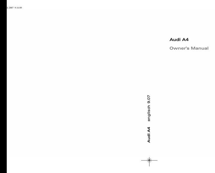 Audi Owners Manual Sample