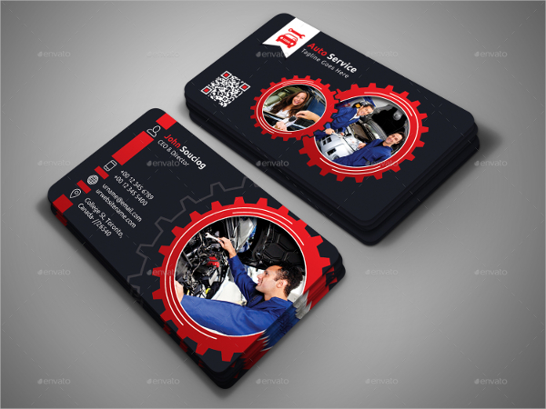 Download automotive business cards for free tidytemplates auto service business card reheart Choice Image