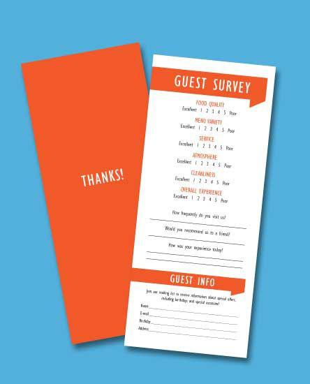 Auto Service Customer Comment Card Template Free
