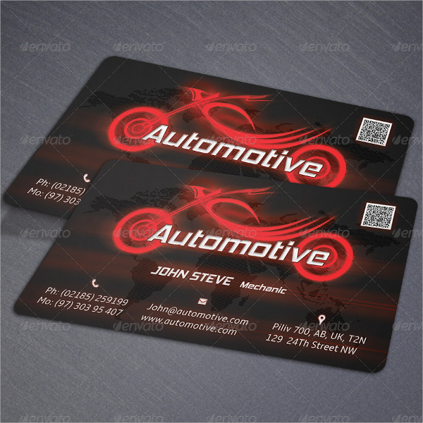 Automotive Motorcycle Business Card