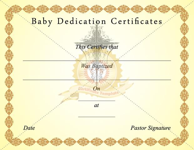 18 Baby Dedication Certificate Template Free Download