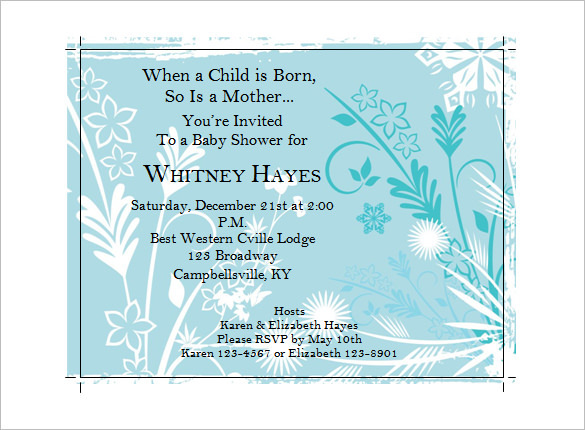 Baby Shower Function Invitation