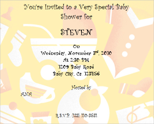 Baby Shower Invitation Template Poem