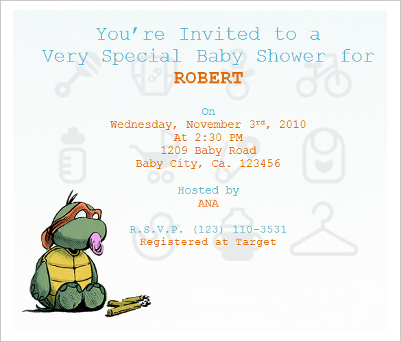 Baby Shower Invitation Wording Sample
