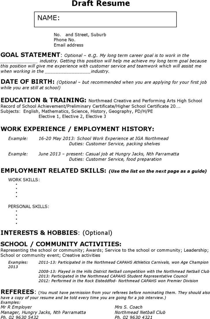 Babysitter Experience Resume
