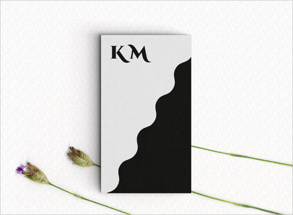 Back and White Contemporary Business Card Download