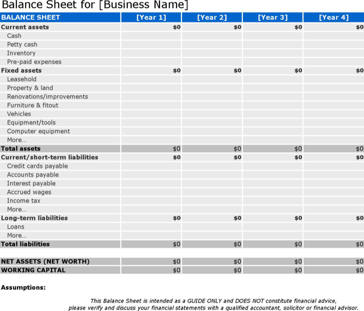 Balance Sheet Inventory Example Template Download1