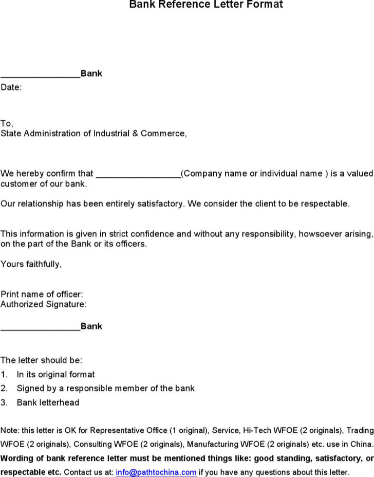 Download sample bank reference letter templates for free tidytemplates sample bank reference letter templates expocarfo Gallery
