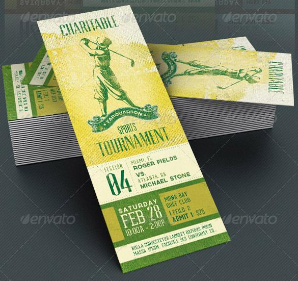 Baseball Event Ticket Template