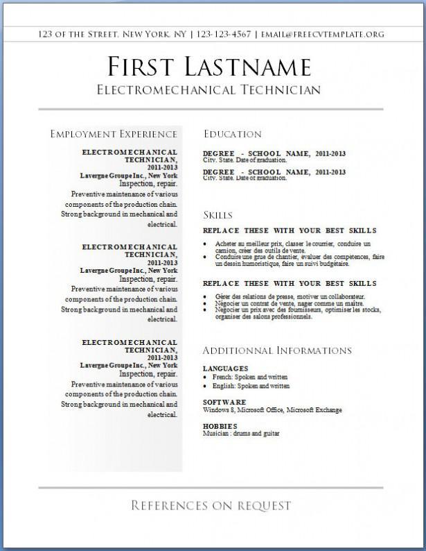 Basic Blank Resume Template