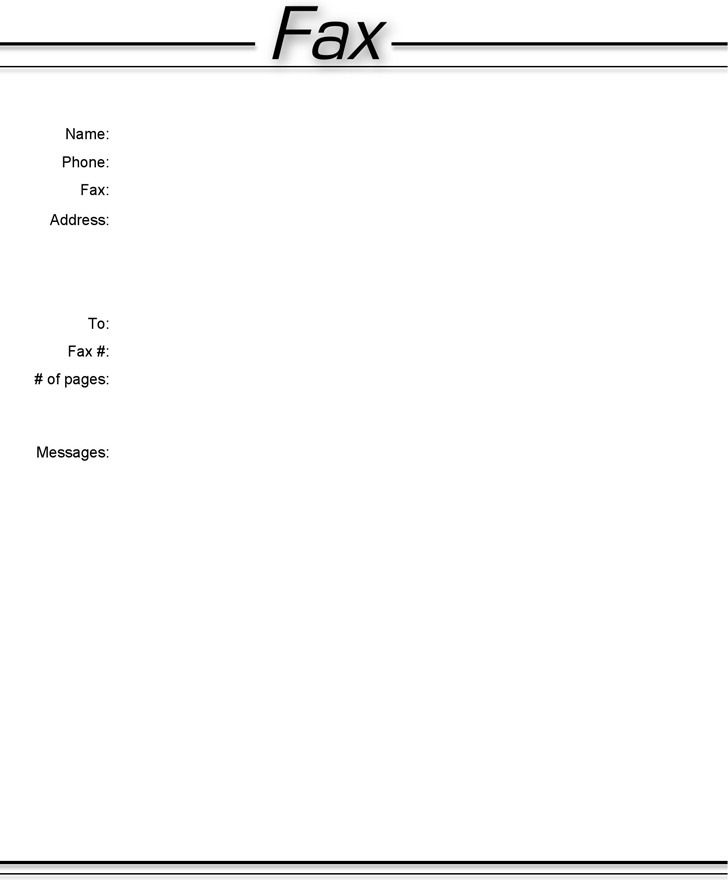Basic Fax Cover Sheet 3