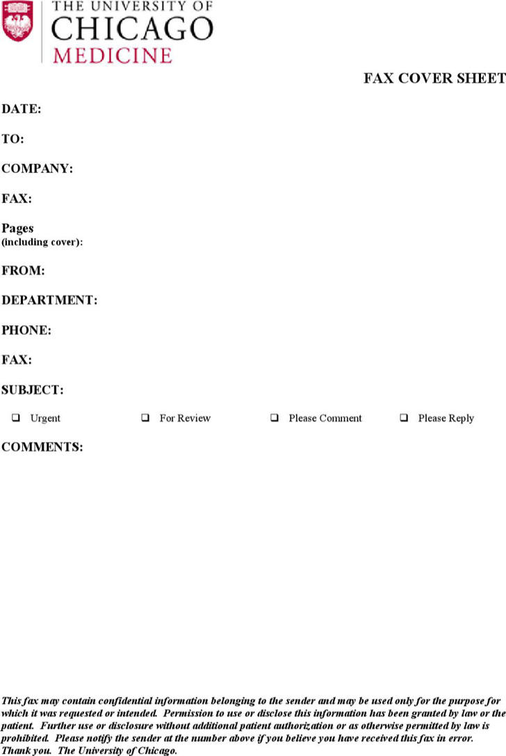 Basic Fax Cover Template Sample