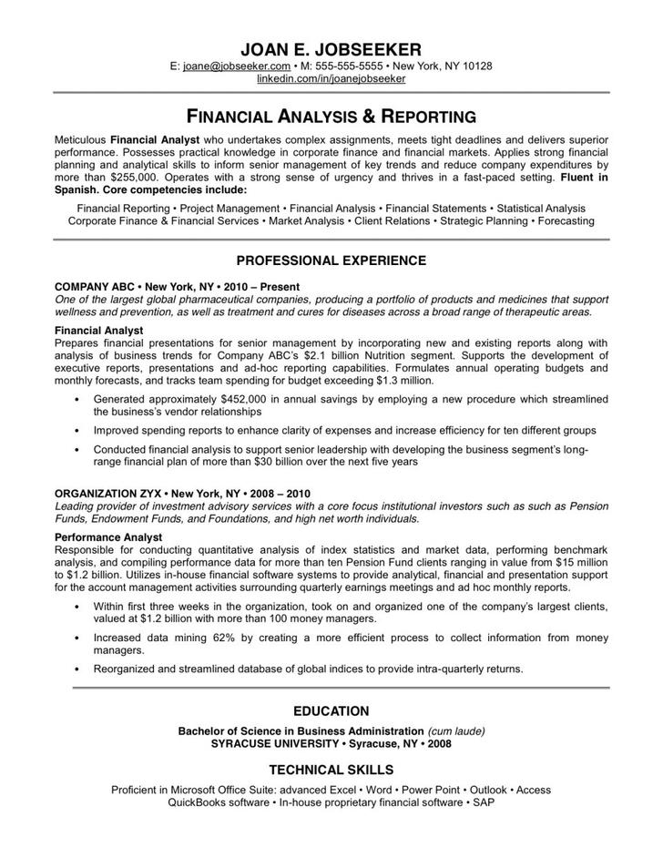 Basic Resume Template Different Look