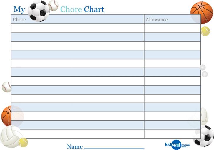 Basic Reward Chart for Boys