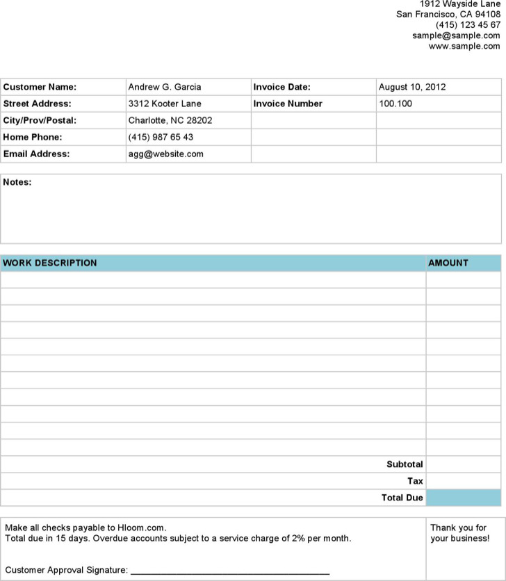 22 Invoice Format Templates Free Download